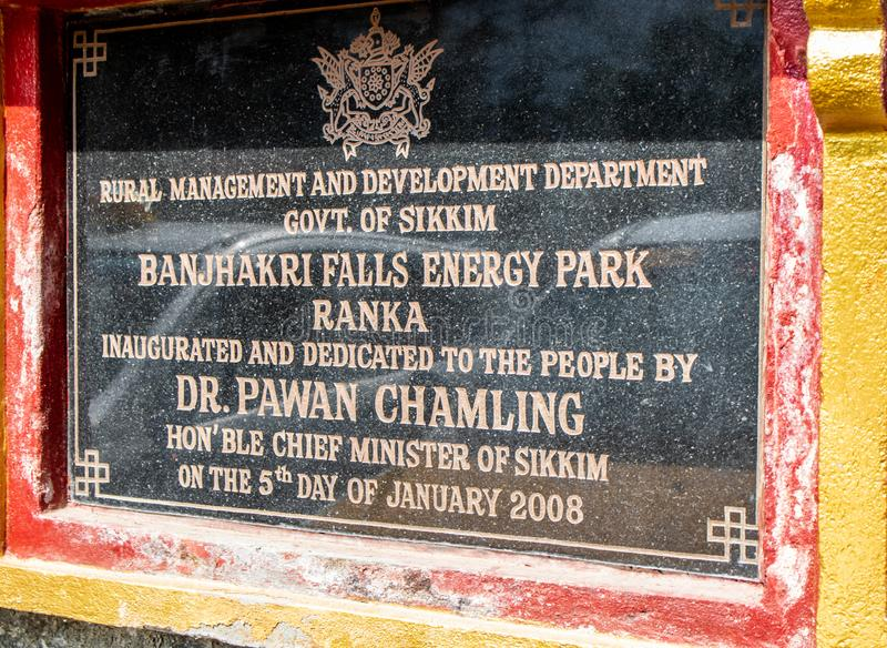 Parque em março de 2018 de Banjhakri das quedas e da energia, gangtok, india Em março de 2018 fotografia de stock