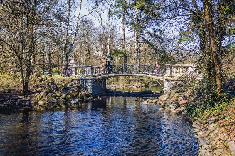 Parque em Varsóvia foto de stock