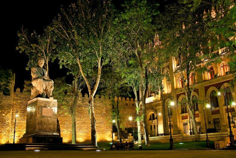 Parque en Baku central Azerbaijan foto de archivo