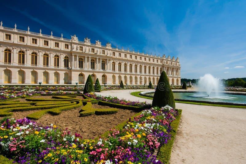 Parque en el palacio de Versalles (Francia) imagen de archivo