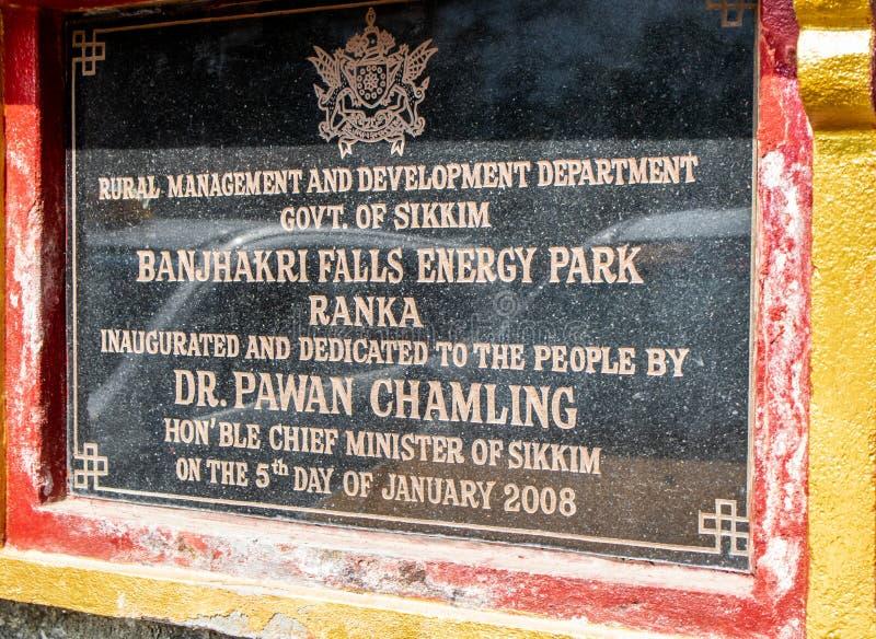 Parque en marzo de 2018 de Banjhakri de las caídas y de la energía, gangtok, la India En marzo de 2018 fotografía de archivo