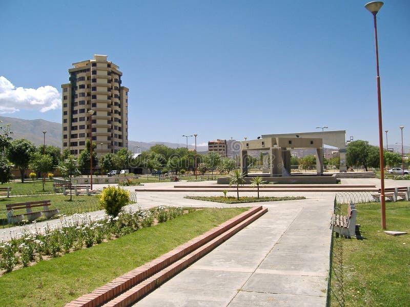Parque en poca ciudad fotos de archivo libres de regalías