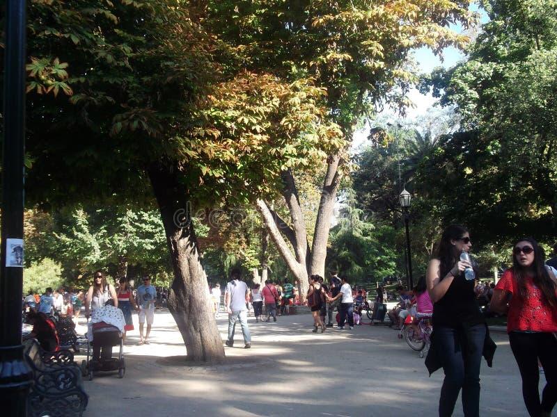 Parque en Santiago, Chile fotos de archivo