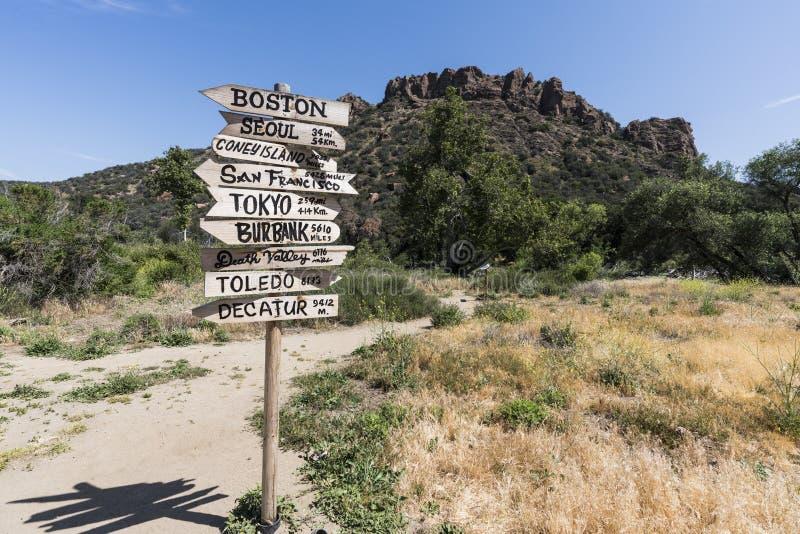 Parque estadual da angra de Malibu restaurado foto de stock royalty free