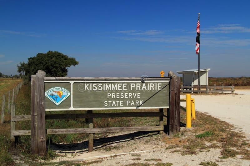 Parque estadual da conserva da pradaria de Kissimmee imagem de stock royalty free