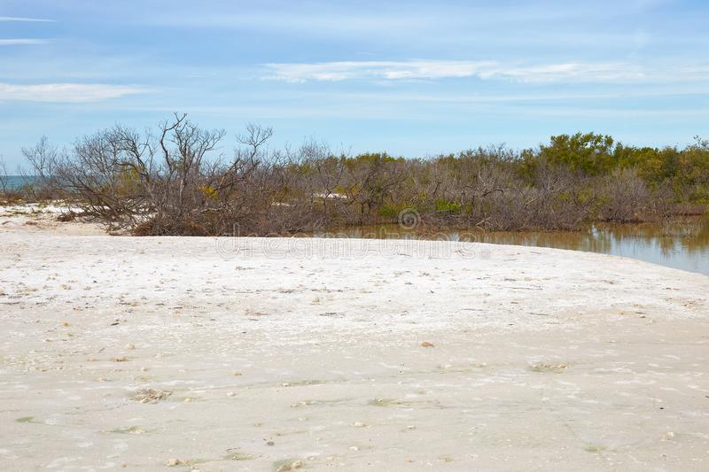 Parque estadual da ilha da lua de mel, Florida foto de stock royalty free