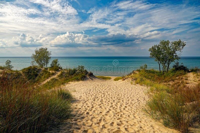 parque estadual das dunas de indiana foto de stock