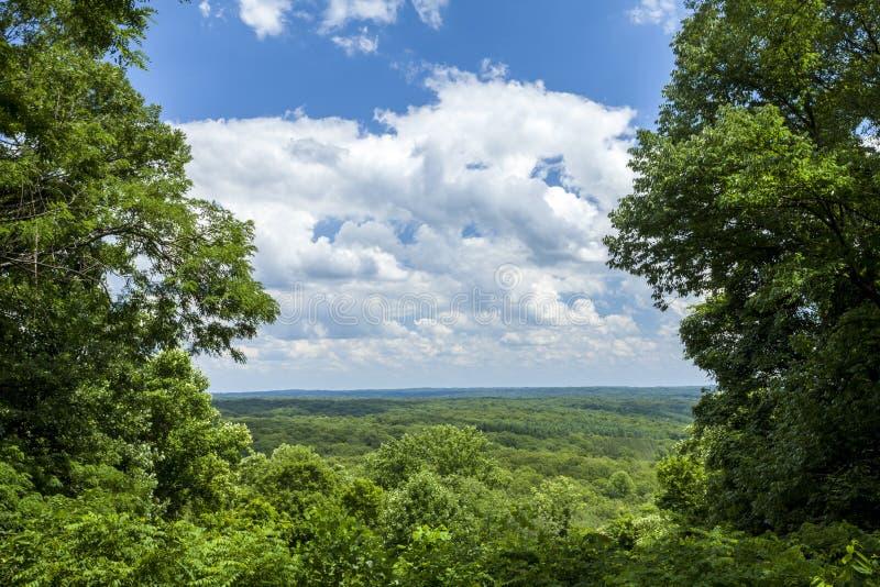 Parque estadual do Condado de Brown, Indiana, EUA foto de stock royalty free