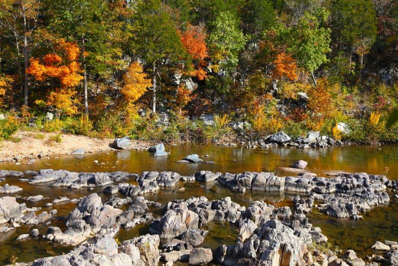 Parque estadual do encerramento de Johnson, Fechar-ins no outono imagem de stock