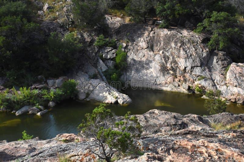 Parque estadual do lago inks - montes imagens de stock