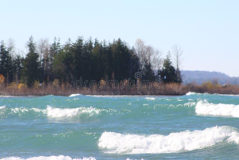 Parque estadual do Lago Michigan Leelanau imagem de stock