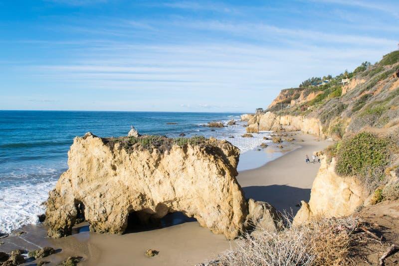 Parque estadual do matador do EL na praia de Malibu imagem de stock