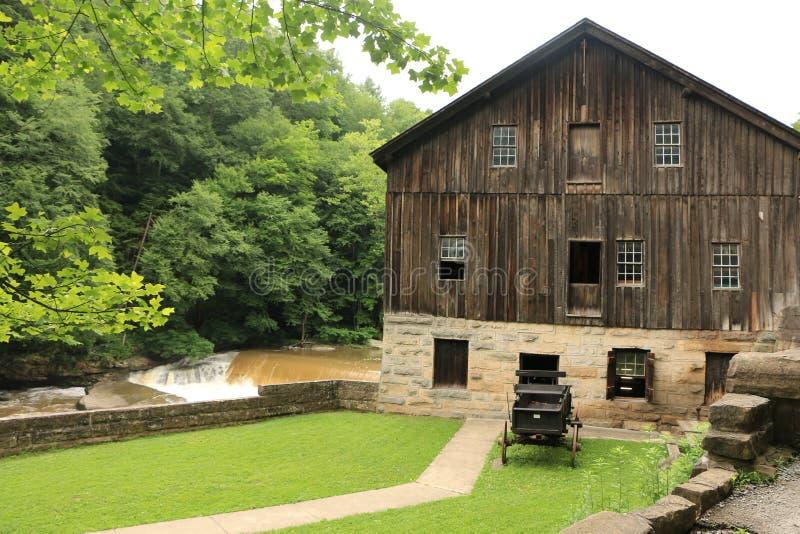 Parque estadual do moinho de McConnells - Portersville, Pensilvânia fotos de stock royalty free