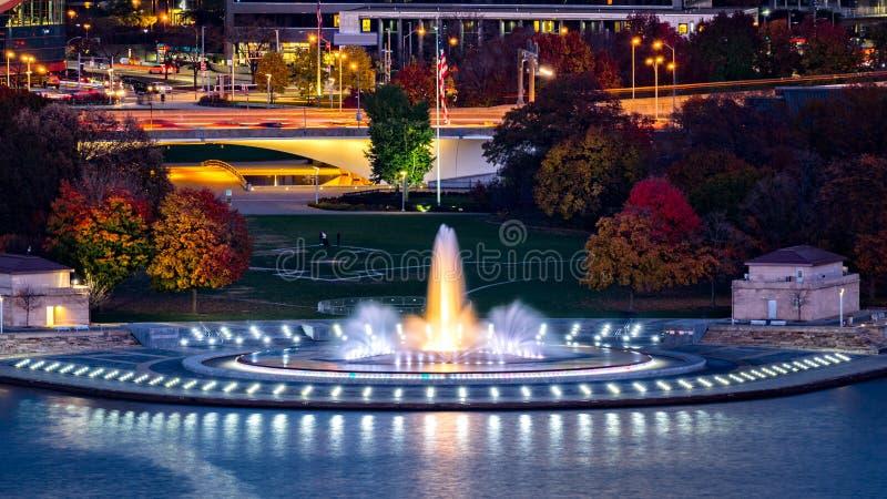 Parque estadual do ponto em Pittsburgh foto de stock royalty free