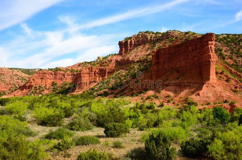 Parque estadual e Trailway das gargantas de Caprock imagens de stock royalty free