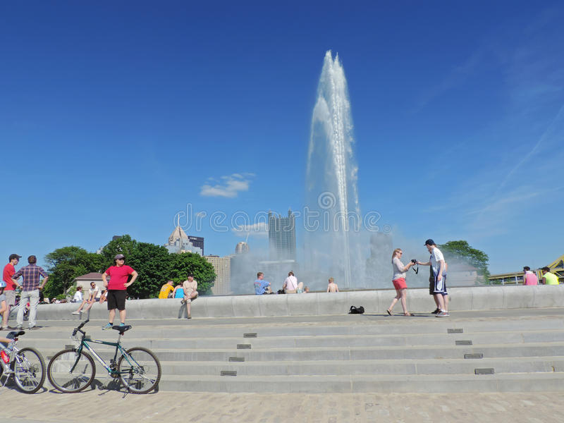 Parque estadual Pittsburgh do ponto fotos de stock royalty free