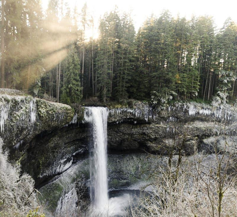Parque estadual sul das quedas da prata das quedas imagens de stock