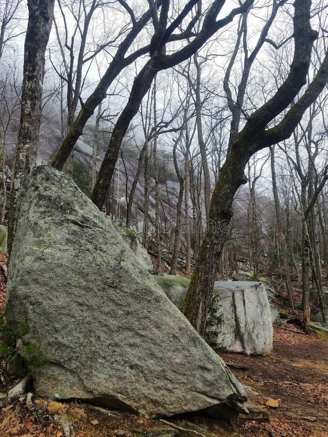 Parque Estatal Stone Mountain, Carolina del Norte fotos de archivo libres de regalías