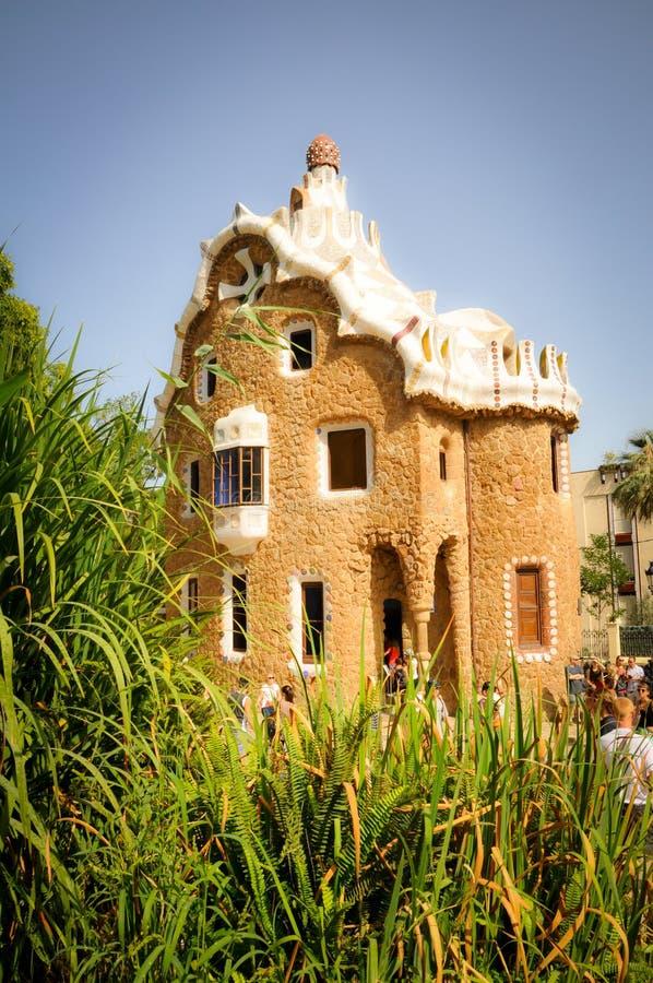 Parque feericamente Guell em Barcelona fotos de stock royalty free