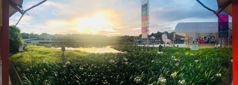 Parque fora do centro Singapura da ciência imagem de stock