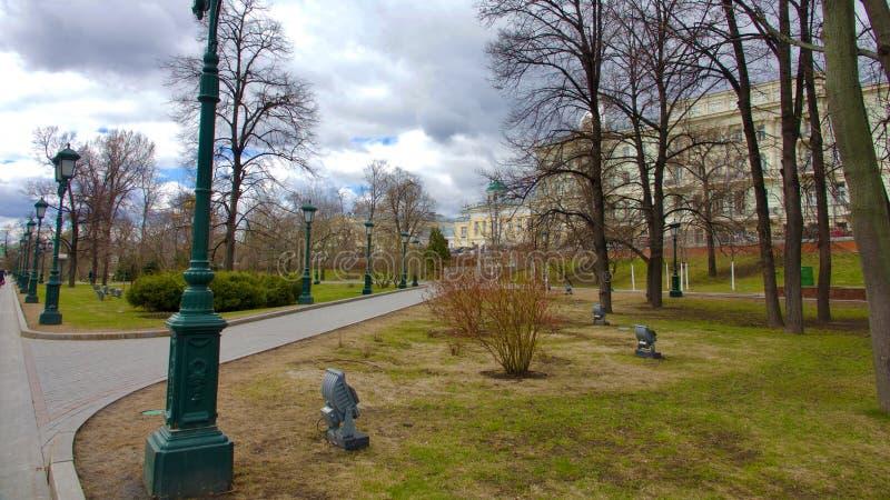 Parque fora do Kremlin foto de stock royalty free