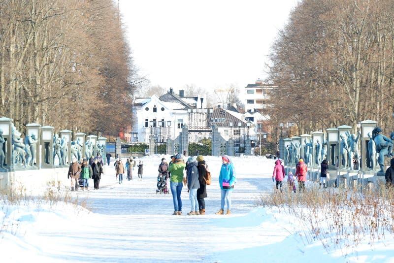 Parque Frognerparken de Frogner imagenes de archivo
