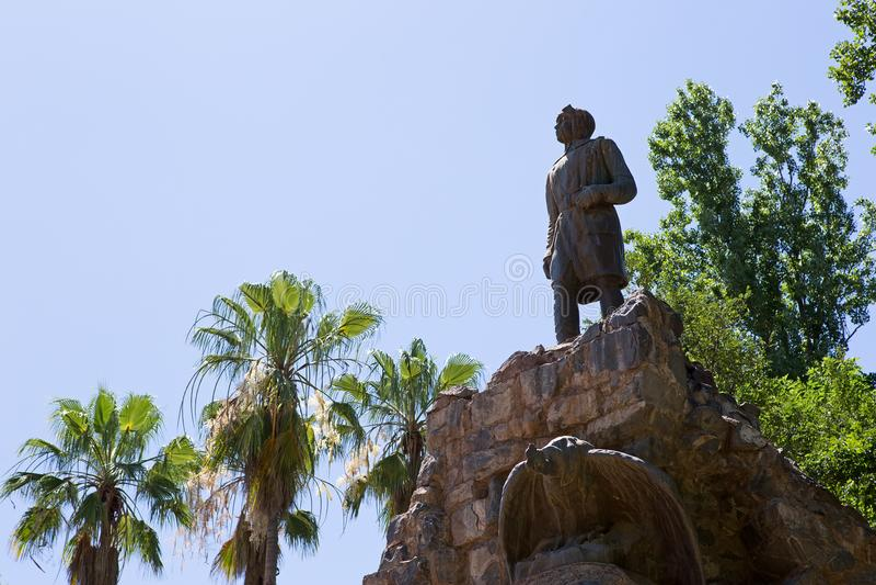 Parque general San Martin Statue, Mendoza arkivfoto