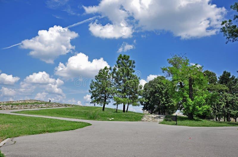 Parque grande de la ciudad imagen de archivo
