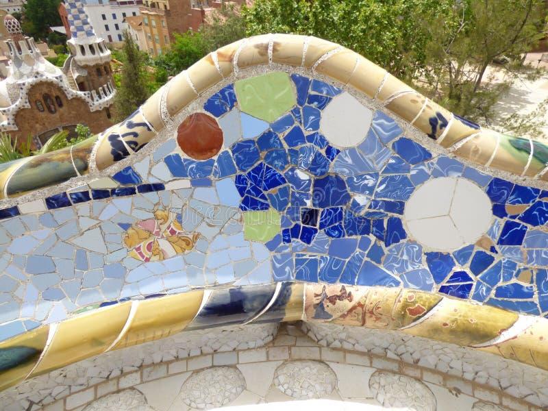 Parque Guell imagen de archivo