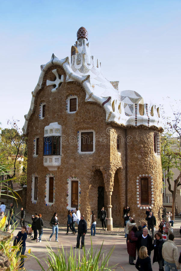 Parque Guell - Barcelona imagem de stock royalty free