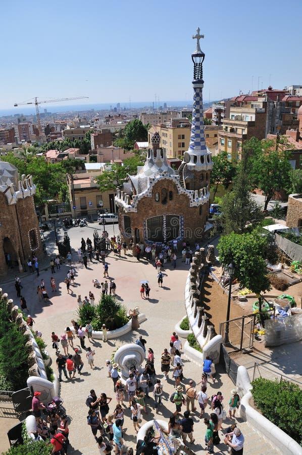 Parque Guell, Barcelona imagem de stock royalty free