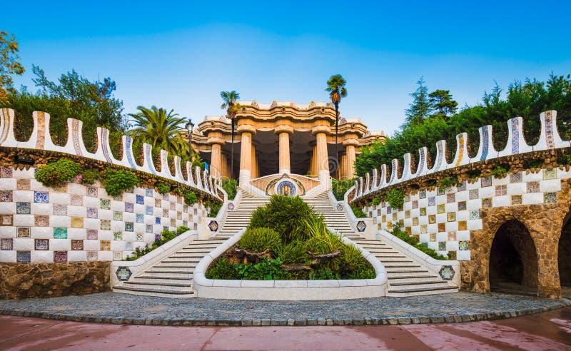 Parque Guell em Barcelona, Spain imagem de stock