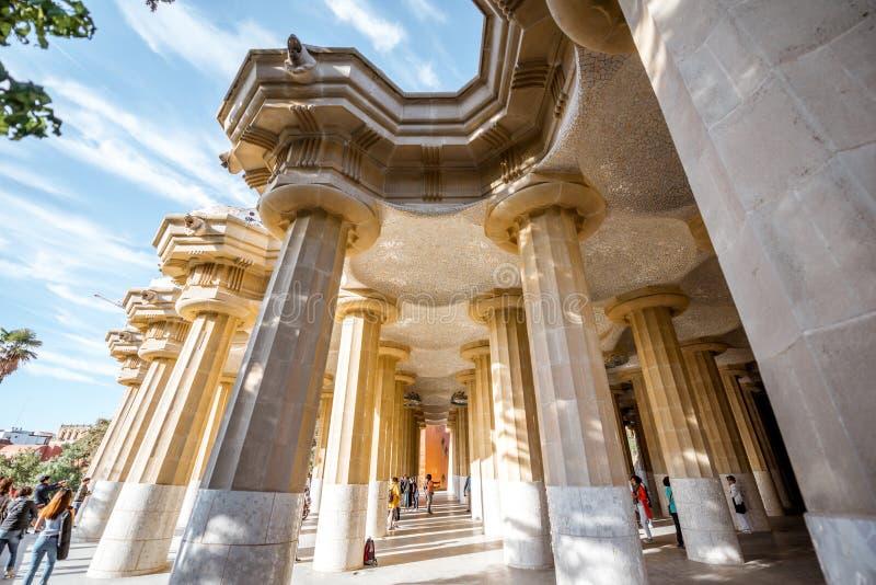 Parque Guell en Barcelona imágenes de archivo libres de regalías