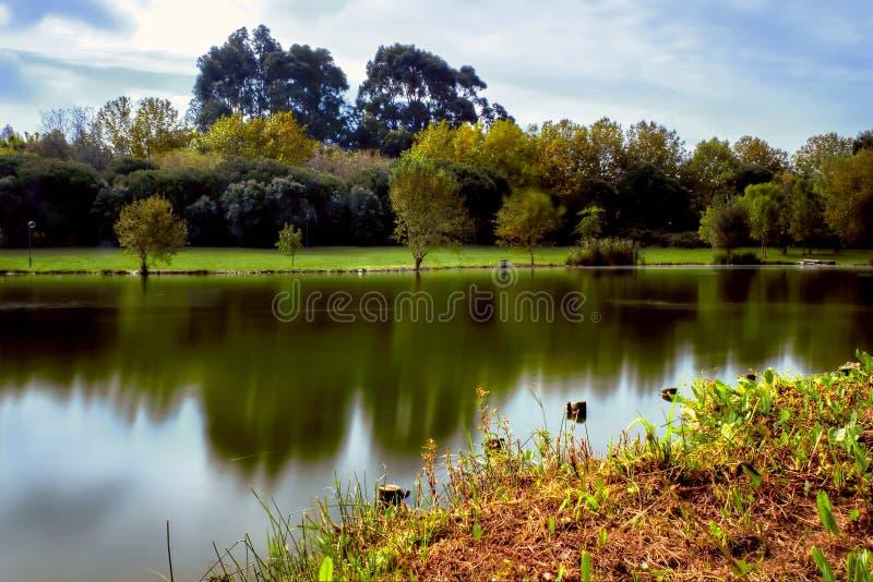 Parque HDR del lago foto de archivo libre de regalías