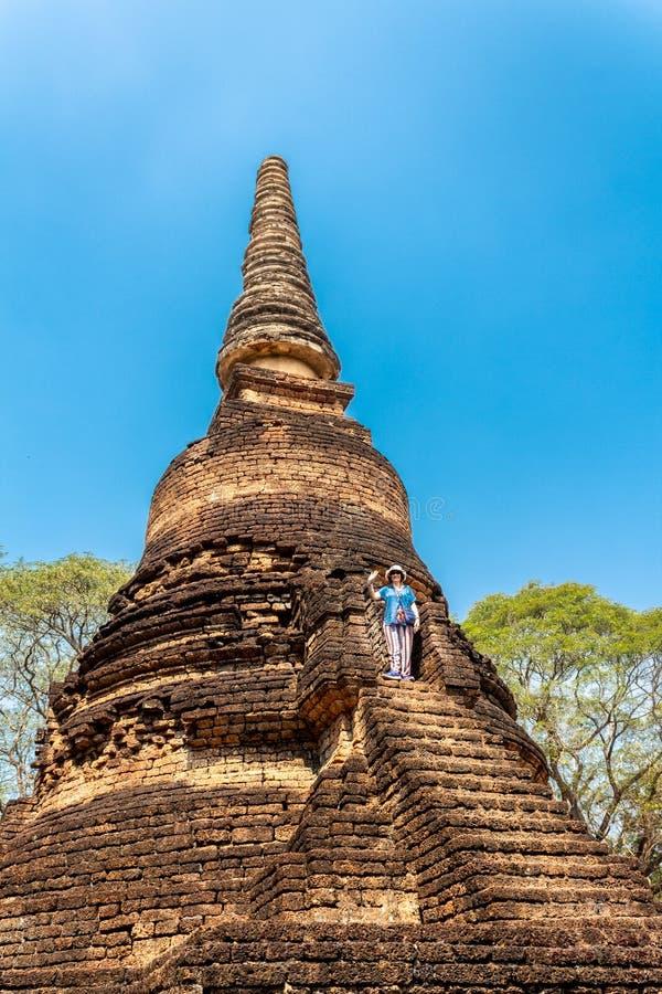 Parque histórico antiguo del Si Satchanalai foto de archivo