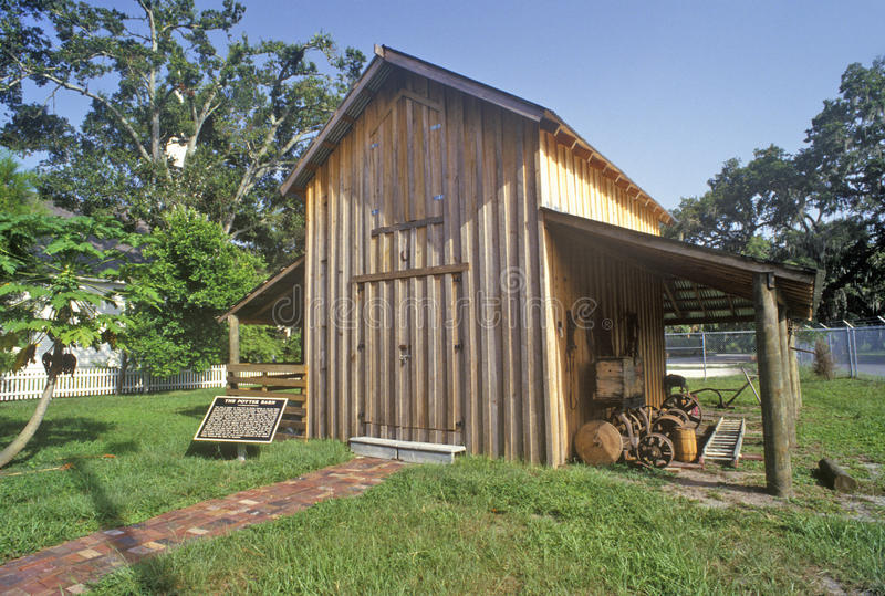 Parque histórico da vila do peixe-boi, Bradenton, Florida foto de stock