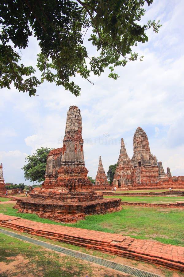 Parque histórico de Ayutthaya fotografia de stock