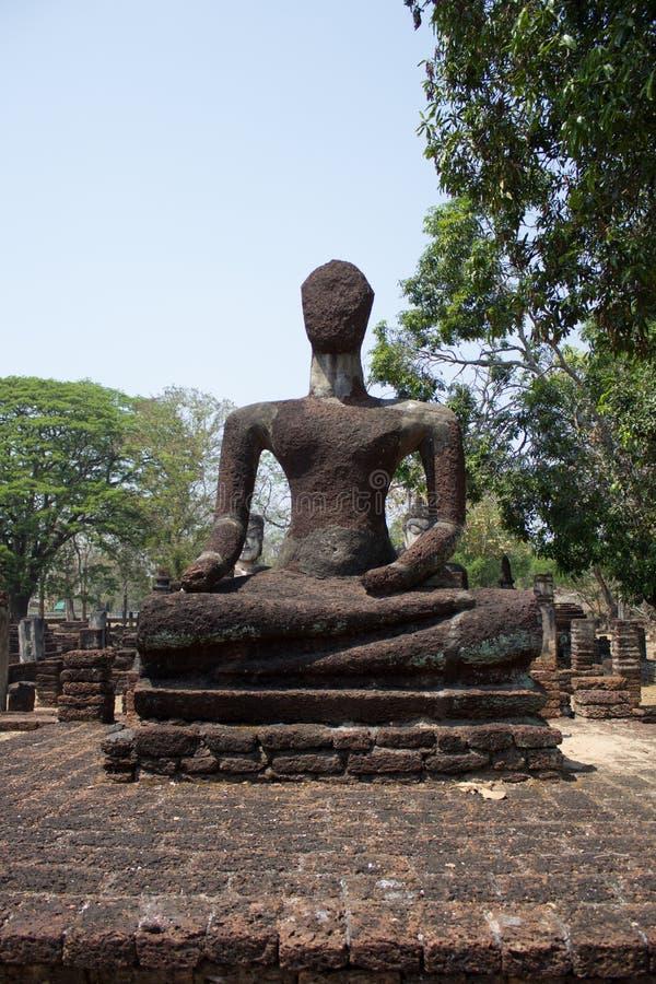 Parque histórico de Kamphaengphet imagem de stock