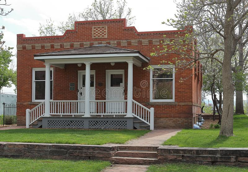 Parque histórico de la novena calle en Denver en la primavera Golda Meir House fotografía de archivo libre de regalías