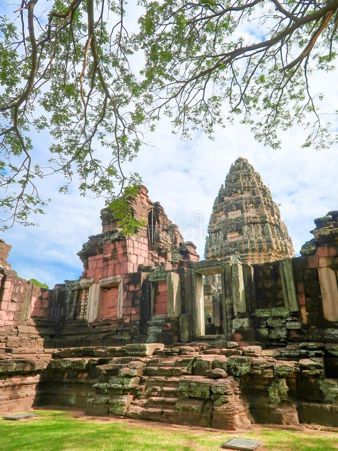 Parque histórico de Phimai, castillo antiguo en Nakhon Ratchasima, Tailandia fotos de archivo