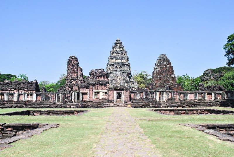 Parque histórico de Phimai, castillo del Khmer fotografía de archivo libre de regalías