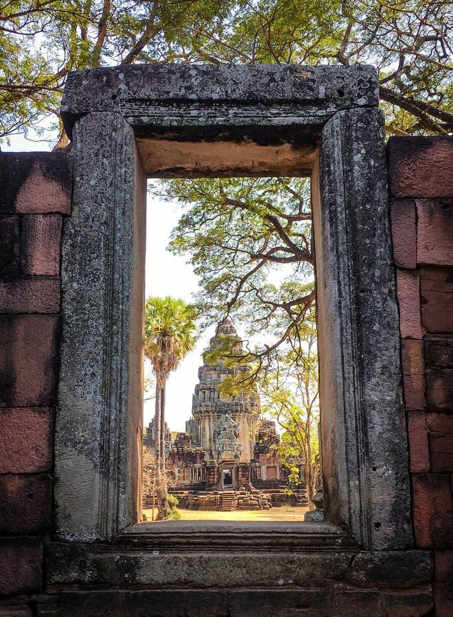 Parque histórico de Phimai, Nakhon Ratchasima, Tailandia imagen de archivo