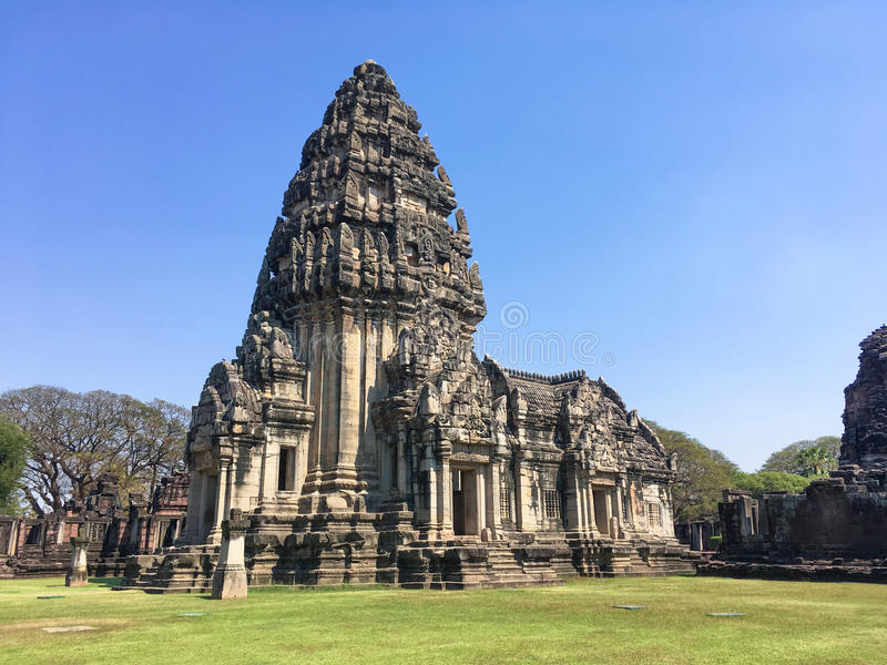 Parque histórico de Phimai, Nakhon Ratchasima, Tailandia imágenes de archivo libres de regalías
