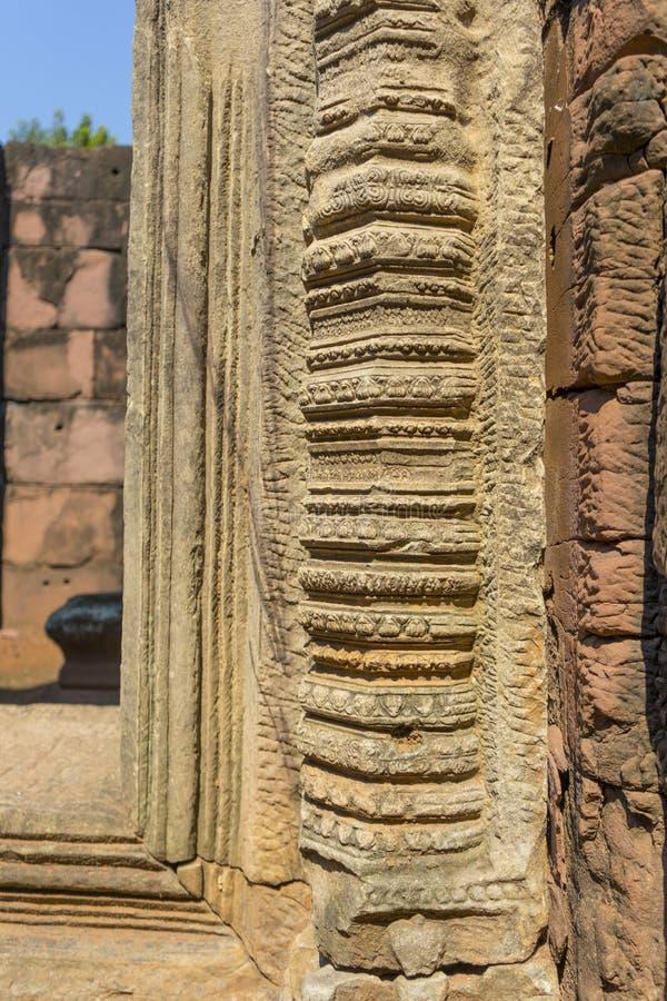 Parque histórico de Prasat Hin Phimai en Nakorn Ratchasima fotografía de archivo libre de regalías