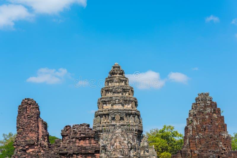 Parque histórico de Prasat Hin Phimai en Tailandia imagen de archivo