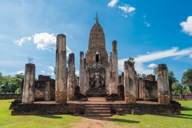 Parque histórico de Satchanalai do si em Tailândia fotos de stock royalty free
