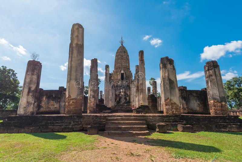 Parque histórico de Satchanalai do si em Tailândia imagens de stock