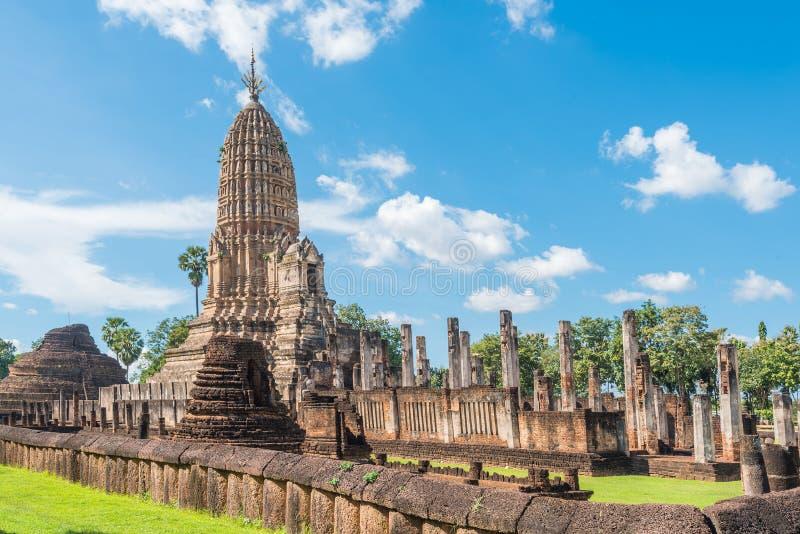 Parque histórico de Satchanalai do si em Tailândia imagem de stock royalty free