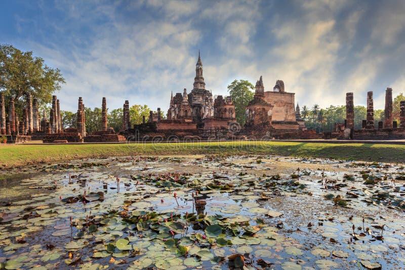 Parque histórico de Sukothai, Tailandia fotografía de archivo