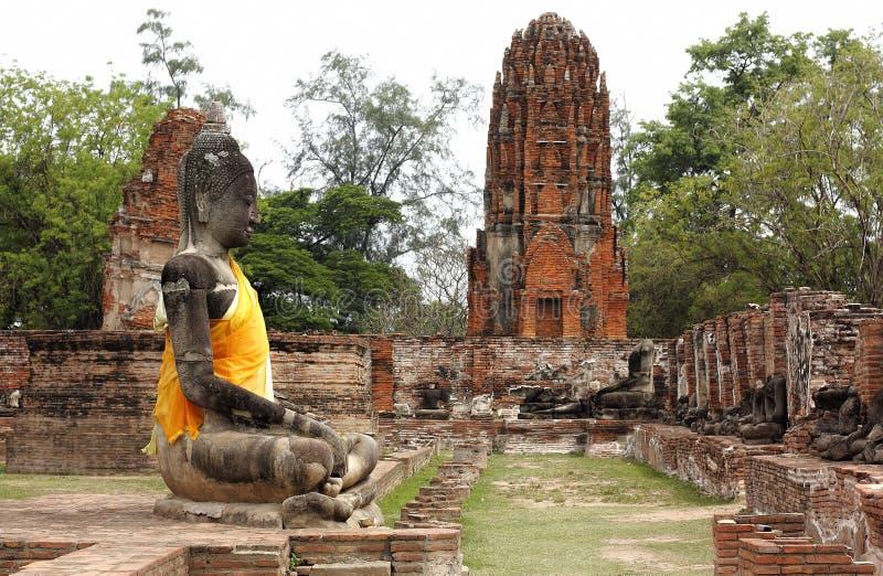 Parque histórico de Watpramahathat Ayutthaya fotos de archivo